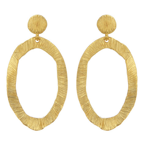 Oval Drop Earrings, ${color}