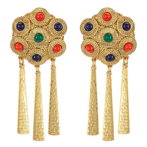 Tassel Drop Earrings, ${color}