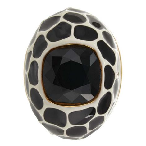 Animal Print Enamel Ring, ${color}