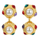 Dome Drop Earrings, ${color}