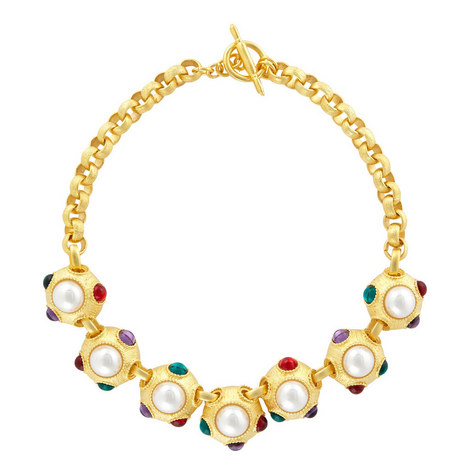 Gem Ball Necklace , ${color}