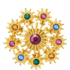 Multi-Gemstone Pin