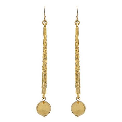 Long Triangular Drop Earrings, ${color}