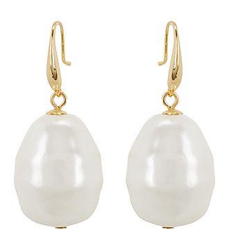 Faux-Pearl Drop Earrings