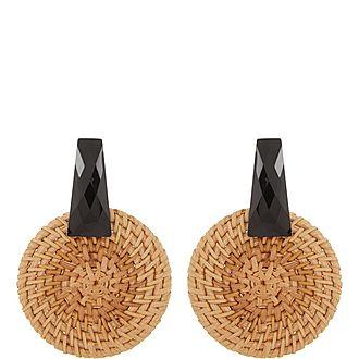 Resin Hoop Earrings