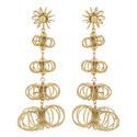Flower Wire Earrings , ${color}