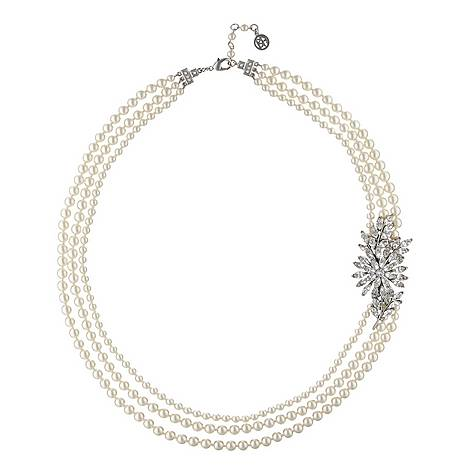 Long Crystal Pearl Necklace, ${color}
