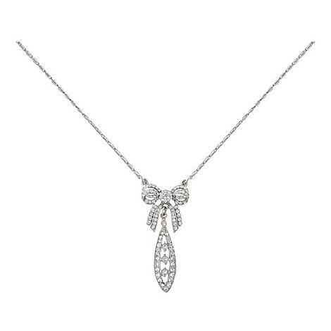 Bow Pendant Necklace, ${color}