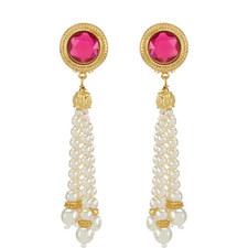 Pearl Tassle Earrings