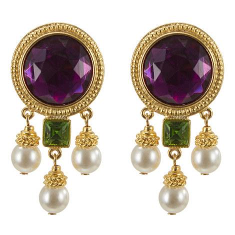 Pearl Drop Earrings, ${color}