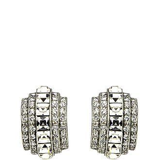 Elegance Crystal Clip Earrings