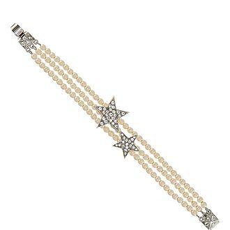 Three Row Star Bracelet