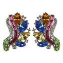 Rainbow Clip-On Earrings , ${color}