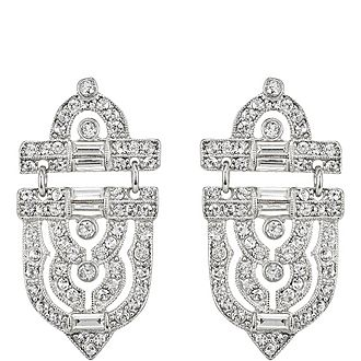 Door Knocker Crystal Earrings