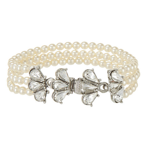 Three Row Pearl Bracelet, ${color}
