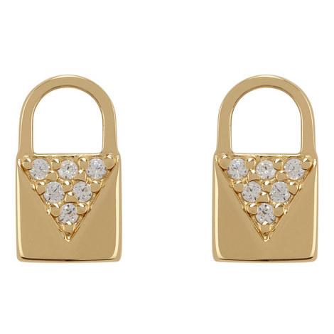 Padlock Stud Earrings, ${color}