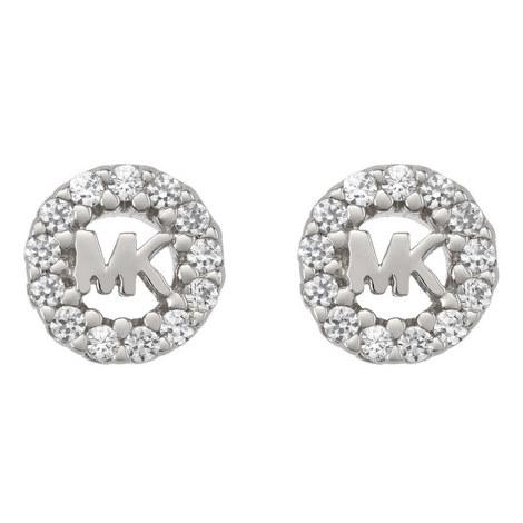Logo Stud Earrings, ${color}