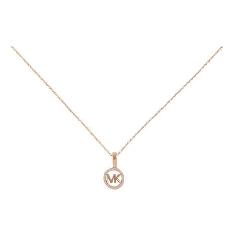 Logo Charm Necklace, ${color}