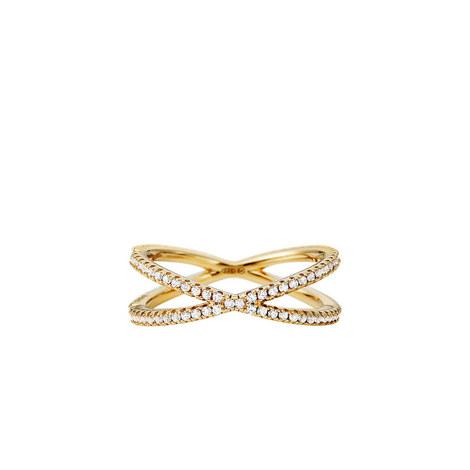 Crystal Pavé Nest X Ring, ${color}