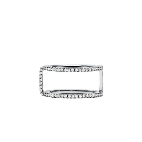 Crystal Pavé Nest Ring Frame, ${color}