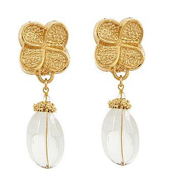 Bo Clear Drop Earrings