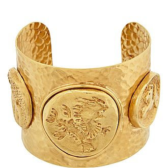 Coin Large Cuff Bracelet