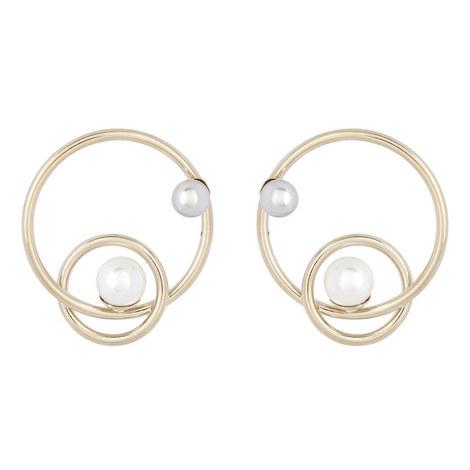 Circular Pearl Earrings, ${color}