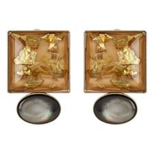 Square Mop Earrings