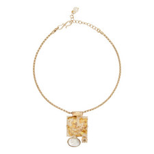 Mop Square Pendant Necklace