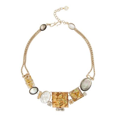 Mop Square Collar Necklace, ${color}