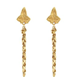 Leaf Chain Drop Earrings