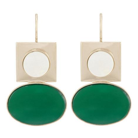 Geometric Clip-On Earrings, ${color}