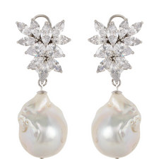 Baroque Stone Pearl Drop Earrings