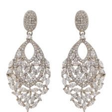 Stone Cluster Chandelier Earrings