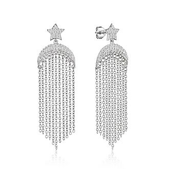 Crescent Chain earrings