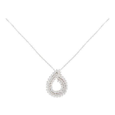 Stone Embellished Necklace, ${color}