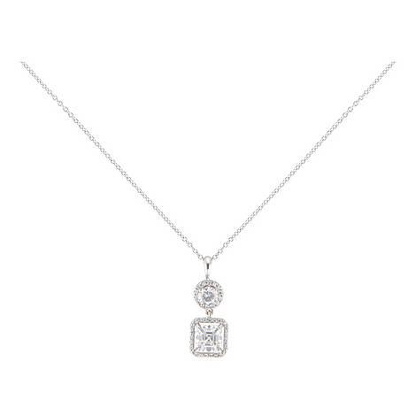 Clara Stone Embellished Drop Pendant Necklace, ${color}