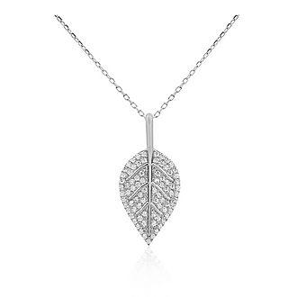 Pavé Leaf Necklace