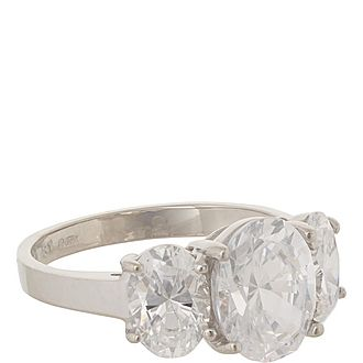 Oval Trilogy Ring