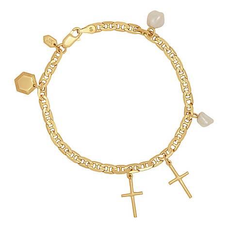 Cross Charm Bracelet, ${color}