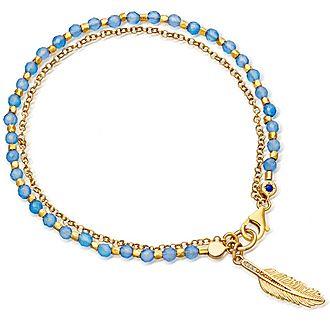 Blue Agate Feather Bracelet