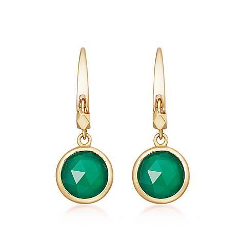 Stilla Green Onyx Drop Earrings, ${color}