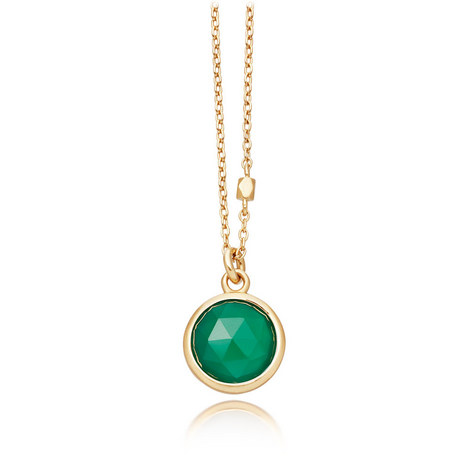Stilla Green Onyx Pendant Necklace, ${color}