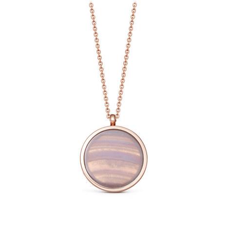 Lace Agate Slice Stilla Locket Necklace, ${color}