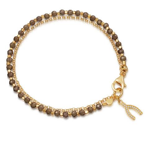 Smoky Quartz Wishbone Bracelet, ${color}