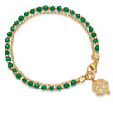 Onyx Four Leave Clover Bracelet, ${color}