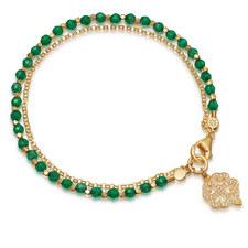 Onyx Four Leave Clover Bracelet