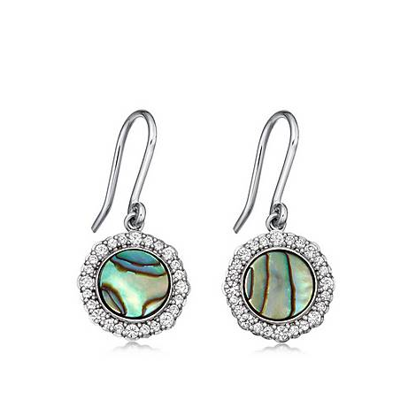 Abalone Luna Drop Earrings, ${color}