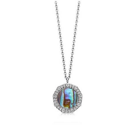 Abalone Luna Pendant Necklace, ${color}