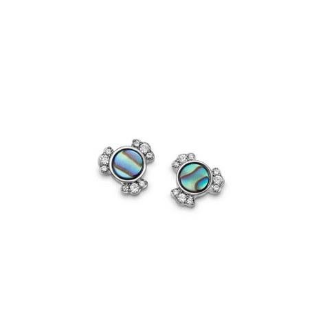 Abalone Mini Stud Earrings, ${color}